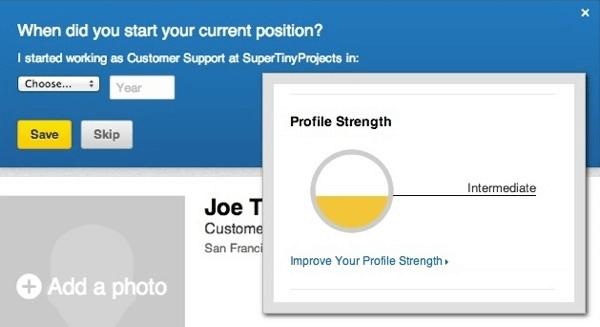 Smartelix LinkedIn Profile Progress Completion